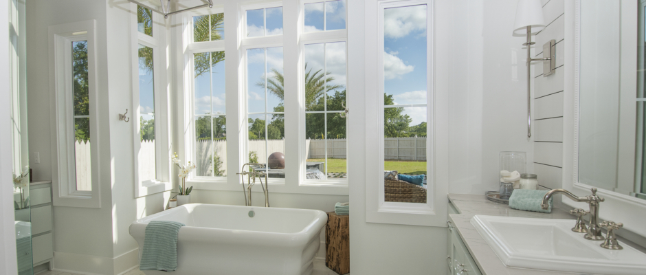 Master Bath with crystal clear windows